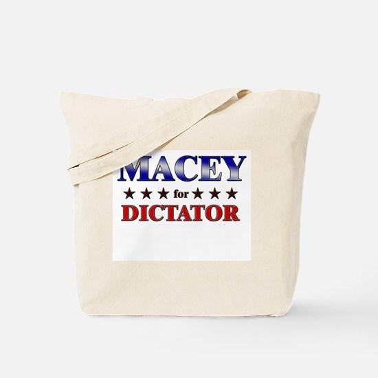 MACEY for dictator Tote Bag