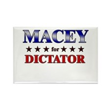 MACEY for dictator Rectangle Magnet