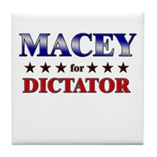 MACEY for dictator Tile Coaster