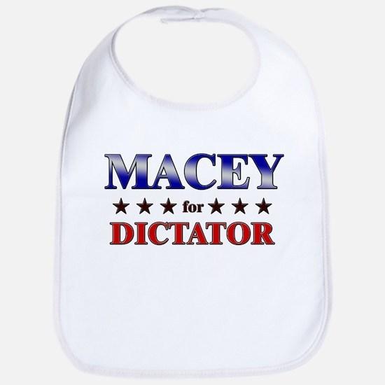 MACEY for dictator Bib