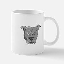 Angry Bulldog Head Cartoon Mugs