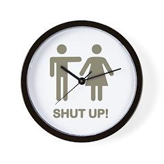 SHUT UP! (GUYS) Wall Clock
