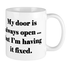 Open Door Policy Small Mug