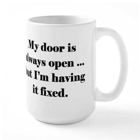 Open Door Policy Large Mug