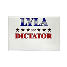 LYLA for dictator Rectangle Magnet