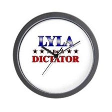 LYLA for dictator Wall Clock