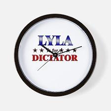 LYLA for dictator Wall Clock