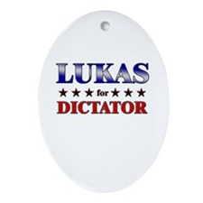 LUKAS for dictator Oval Ornament