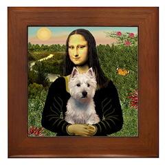 Mona's Westie (P) Framed Tile