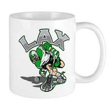 Lacrosse Player Green Uniform Mug