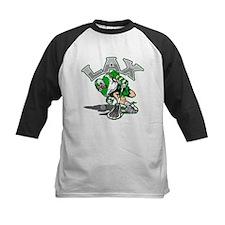 Lacrosse Player Green Uniform Tee