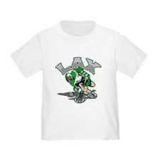 Lacrosse Player Green Uniform T