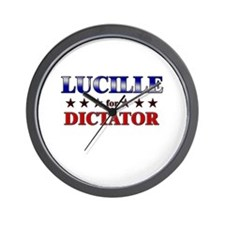 LUCILLE for dictator Wall Clock