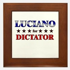 LUCIANO for dictator Framed Tile