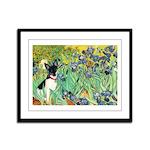 Irises / Toy Fox T Framed Panel Print