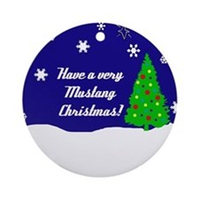 A Very Mustang Christmas Ornament (Round)