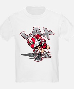 Lacrosse Player Red Uniform T-Shirt