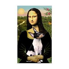 Mona / Toy Fox T Sticker (Rectangle)