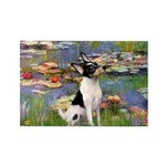 Lilies / Toy Fox T Rectangle Magnet (10 pack)