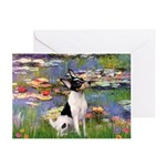 Lilies / Toy Fox T Greeting Cards (Pk of 20)