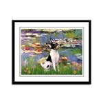 Lilies / Toy Fox T Framed Panel Print