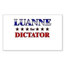LUANNE for dictator Rectangle Decal