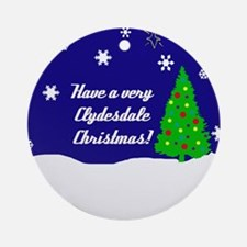 A Very Clydesdale Christmas Ornament (Round)