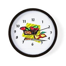 Apple Basket Wall Clock