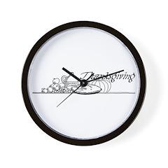 Thanksgiving 3 Wall Clock