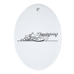 Thanksgiving 3 Oval Ornament