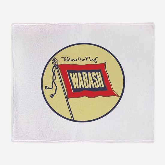 Wabash Railroad logo Throw Blanket
