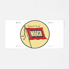 Wabash Railroad logo Aluminum License Plate