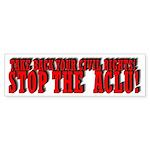 Take Back Your Civil Rights! Bumper Sticker