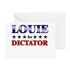 LOUIE for dictator Greeting Card