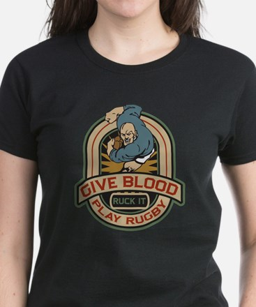 Give Blood Play Rugby Tee