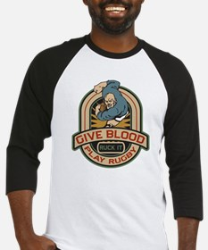 Give Blood Play Rugby Baseball Jersey