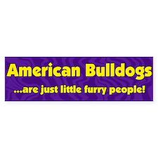 Furry People American Bulldog Bumper Bumper Sticker