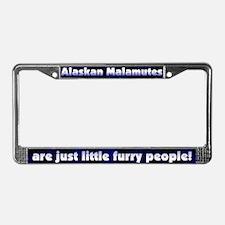 Furry People Alaskan Malamute License Plate Frame