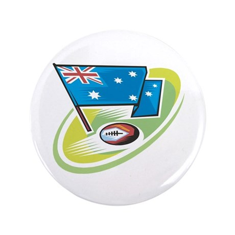 "Australia Rugby 3.5"" Button"