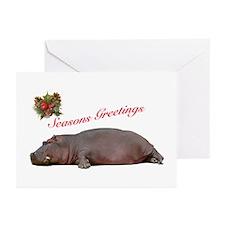 Season's Greetings Hippo Blank Cards (Pk of 10)