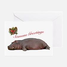 Season's Greetings Hippo Greeting Cards (Pk of 20)