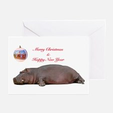 Hippo Happy Holidays Greeting Cards (Pk of 20)