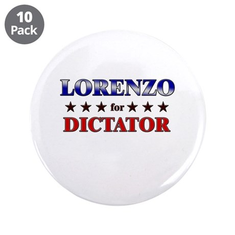 """LORENZO for dictator 3.5"""" Button (10 pack)"""