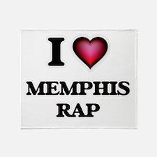 I Love MEMPHIS RAP Throw Blanket