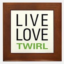 Live Love Twirl Framed Tile