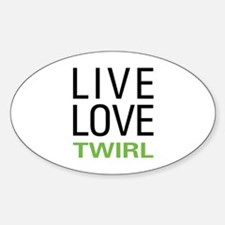 Live Love Twirl Oval Decal