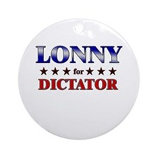 LONNY for dictator Ornament (Round)
