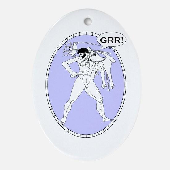 Macho Greek Oval Ornament