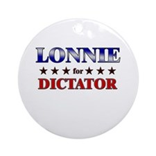LONNIE for dictator Ornament (Round)