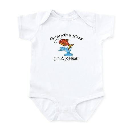 I'm A Keeper Grandpa Infant Bodysuit